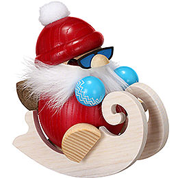 Smoker  -  Ball Figure Santa with Sleigh  -  12cm / 4.7 inch