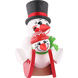 Smoker  -  Cool - Men on Sleigh  -  12cm / 5 inch