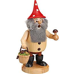 Smoker  -  Forest Gnome Mushroom Picker Natural  -  15cm / 6 inch