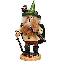 Smoker Forest Gnome Wood Collector, grün  -  25cm / 10inch