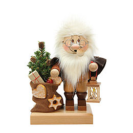 Smoker  -  Gnome Santa Claus with Bag  -  26,5cm / 10 inch