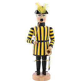 Smoker Miner Saxonian Kings Court trumpet player  -  21cm / 8 inch