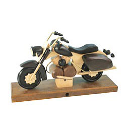 Smoker  -  Motorcycle Chopper Black 27x18x8cm / 11x7x3 inch