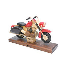 Smoker Motorcycle Chopper red 27 x 18 x 8cm / 11 x 7 x 3 inch