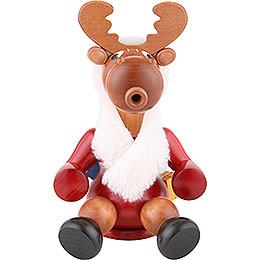 Smoker Santa moose  -  24cm / 9 inch