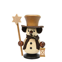 Smoker Snowboy with Star natural colors  -  10,5cm / 4 inches