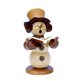 Smoker Snowman Singer natural colors  -  23,0cm / 9 inches