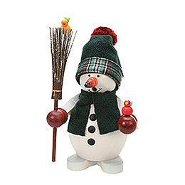 Smoker  -  Snowman  green  -  23cm / 9 inch