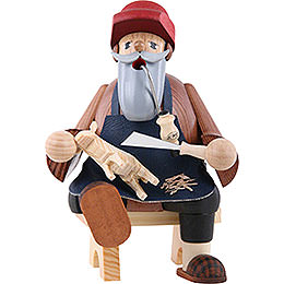 Smoker Wood Carver  -  16cm / 6 inches