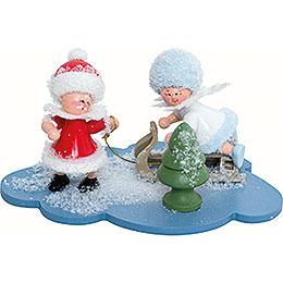 Snowflake and Santa Claus  -  10x7x6cm / 4x2.8x2.3 inch