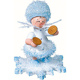 Snowflake with Cymbal  -  5cm / 2 inch