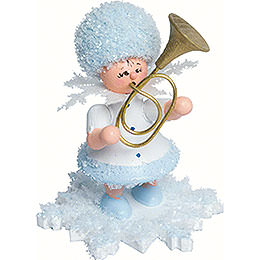 Snowflake with alto horn  -  5cm / 2inch