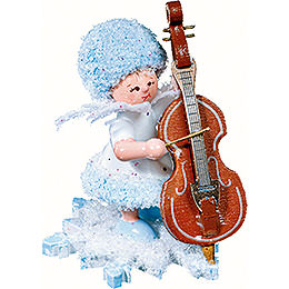 Snowflake with double bass  -  5cm / 2inch
