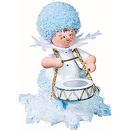 Snowflake with drums  -  5cm / 2inch