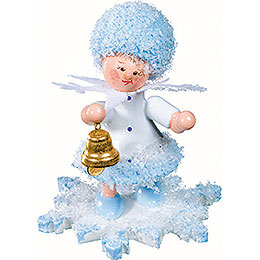 Snowflake with little bell  -  5cm / 2inch
