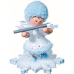 Snowflake with piccolo  -  5cm / 2inch
