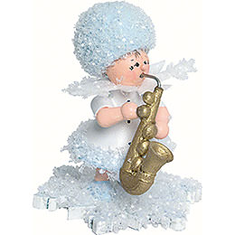 Snowflake with saxophone  -  5cm / 2inch