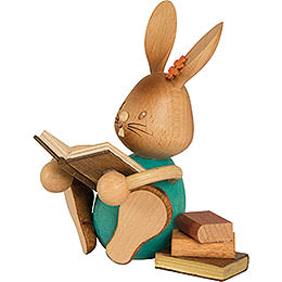 Snubby Bunny with books  -  12cm / 4.7inch