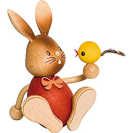 Snubby Bunny with chick  -  12cm / 4.7inch