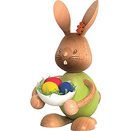 Snubby Bunny with eggshell  -  12cm / 4.7inch
