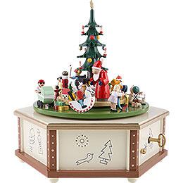 Spieldose Weihnachtsbescherung  -  24cm