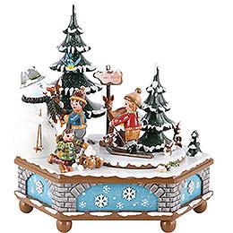 Spieldose Winterzeit  -  20cm