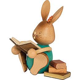 Stupsi Hase mit Büchern  -  12cm
