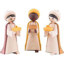 The three wise men, glazed  -  7cm / 2.8inch