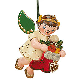 Tree Ornament  -  Angel with Red Boot  -  6cm / 2,5 inch
