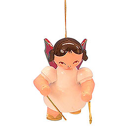 Tree Ornament  -  Angel with Triangle  -  Red Wings  -  Floating  -  5,5cm / 2,1 inch