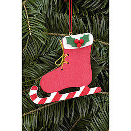 Tree Ornament  -  Boot with Candy  -  8,0x6,8cm / 3.1x2.7 inch