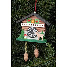 Tree Ornament  -  Cuckoo Clock with Bambi  -  6,9x5,7cm / 2.7x2.2 inch
