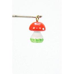 Tree Ornament  -  Mini - Mushroom  -  1,0x1,5cm / 1x1 inch