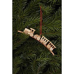 Tree Ornament  -  Mini - Train Natural Colors  -  10,5x1,9cm / 4x1 inch