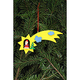 Tree Ornament  -  Santa Claus in Shooting Star  -  12,9x5,2cm /5.1x2 inch