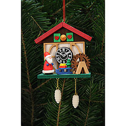 Tree Ornaments Cuckoo Clock Niko at the Waterside  -  7,0x6,7cm / 3x3 inch