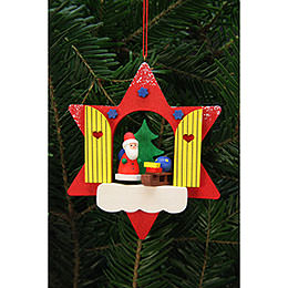 Tree Ornaments Star Window with Niko  -  9,5x9,5cm / 4x4 inch