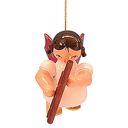 Tree ornament Angel with bassoon  -  Red Wings  -  floating  -  5,5cm / 2,1 inch