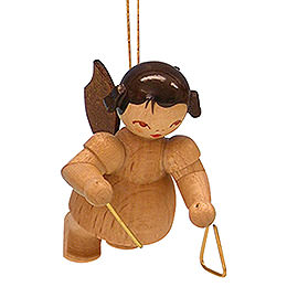 Tree ornament Angel with triangle  -  natural colors  -  floating  -  5,5cm / 2,1 inch