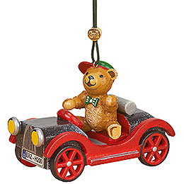 Tree ornament Car with teddy  -  5cm / 2inch