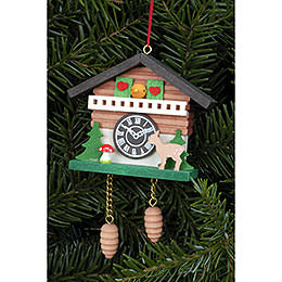 Tree ornament Cuckoo Clock with Bambi  -  6,9 x 5,7cm / 2.7 x 2.2inch