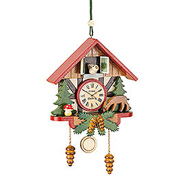 Tree ornament Cuckoo clock forest  -  10cm / 3,9inch