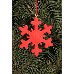 Tree ornament Icecrystal red  -  6,6 x 6,6cm / 2.6 x 2.6inch