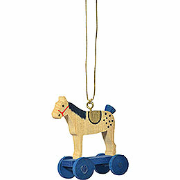 "Tree ornament ""Little rider blue""  -  6cm / 2.4inch"