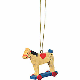 "Tree ornament ""Little rider red""  -  5cm / 2inch"