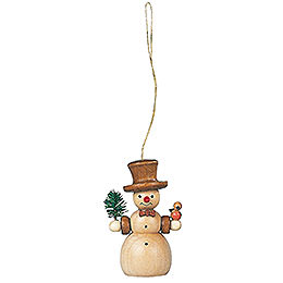 Tree ornament  -  Snowman  -  8cm / 3 inch