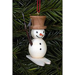 Tree ornament Snowman on Skis  -  4,8 x 4,5cm / 2 x 2 inch