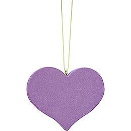 Tree ornament heart lilac  -  5,7x4,5cm / 2.2x1.8inch