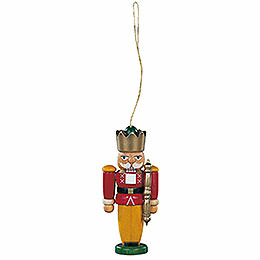 Tree ornament nutcracker king colored  -  8cm / 3.1inch