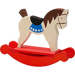 Tree ornament rocking horse  -  5cm / 2inch